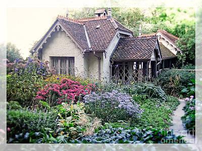 Gardening Photograph - English Cottage Garden by Edward Fielding