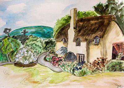 English Cottage Print by Pati Photography