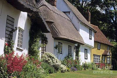 English Cottages Print by Derek Croucher