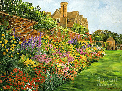 English Estate Gardens Print by David Lloyd Glover