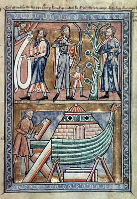 Cain Painting - English Psalter, C1215 by Granger