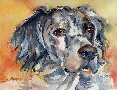 English Setter Portrait Print by Maria's Watercolor