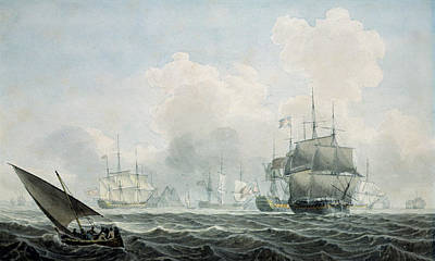 Water Vessels Painting - English Ships Of War by Robert Cleveley