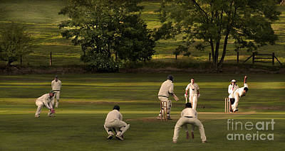 English Village Cricket Print by Linsey Williams