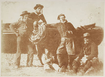 Portaits Photograph - English Yachtsmen And Newhaven Fishers by British Library