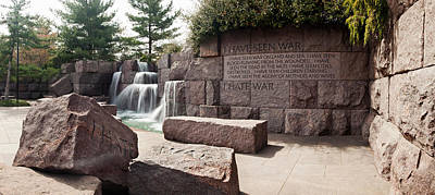 Engraved Memorial Wall, Franklin Delano Print by Panoramic Images
