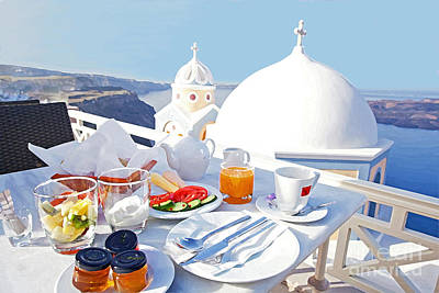 Vacances Photograph - Enjoy Breakfast by Aiolos Greek Collections