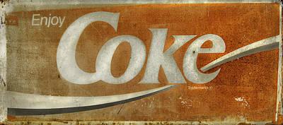 Enjoy Coke - Vintage Sign No 1 Print by Thomas Schoeller