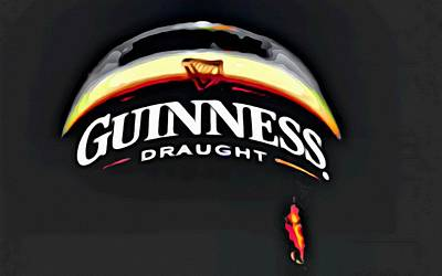 Beer Painting - Enjoy Guinness by Florian Rodarte