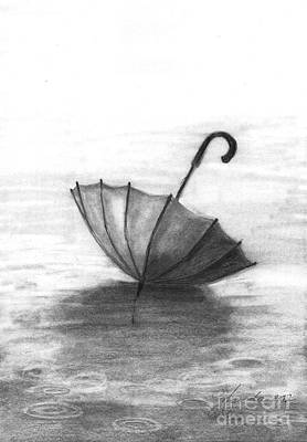 Enjoy The Raindrops Print by J Ferwerda