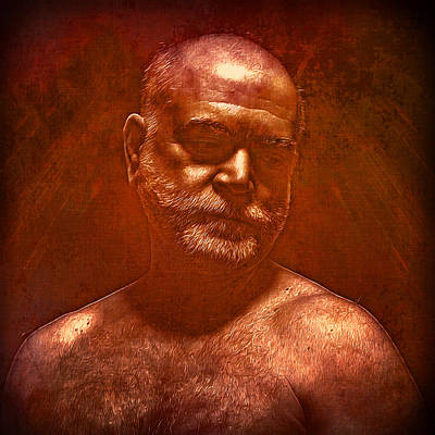 Male Portraits Digital Art - Enlightenment 11 by Chris  Lopez