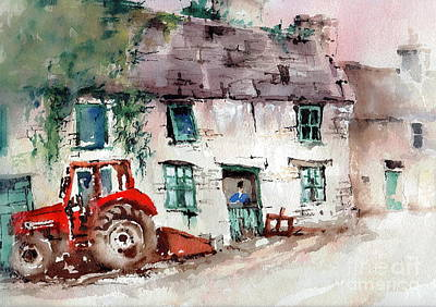 Clare Painting - Ennistymon Deriliction by Val Byrne