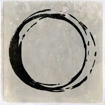 Painting - Enso No. 107 Black On Taupe by Julie Niemela