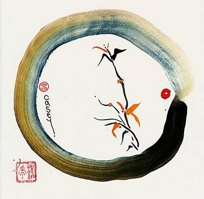 Enso Painting - Enso Spring by Casey Shannon