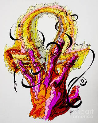 African-american Drawing - Entangled In Life by James Bowman