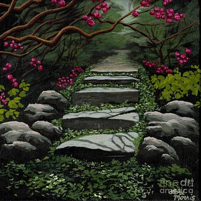 Cherry Blossoms Painting - Enter In  by Lori  Morris