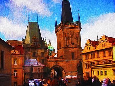 Czech Republic Digital Art - Entering The Old Town by Jo-Anne Gazo-McKim