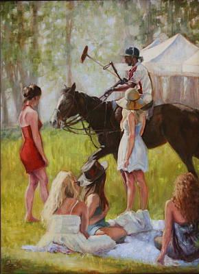 Heather Burton Painting - Entourage by Heather Burton