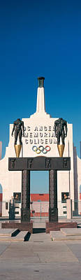 Entrance Memorial Photograph - Entrance Of A Stadium, Los Angeles by Panoramic Images