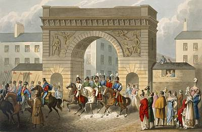 Street Drawing - Entrance Of The Allies Into Paris by John Heaviside Clark