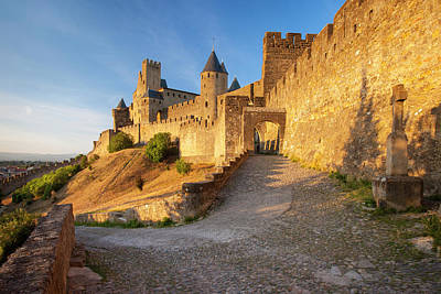 Entrance To Medieval Town Print by Brian Jannsen