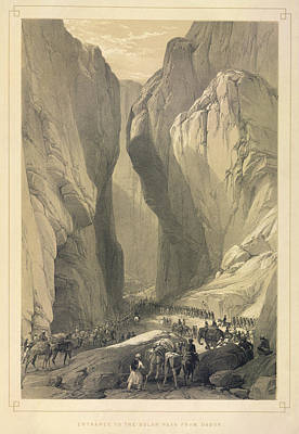Entrance To The Bolan Pass Print by British Library