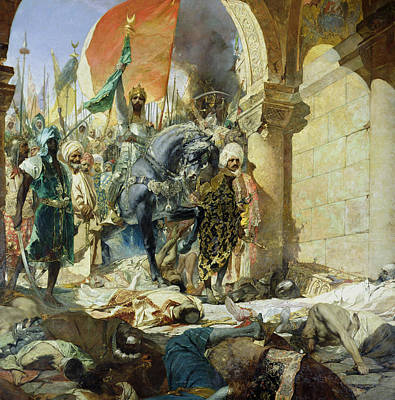 Byzantine Painting - Entry Of The Turks Of Mohammed II by Benjamin Constant