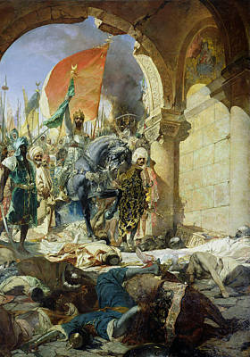 Mohammad Painting - Entry Of The Turks Of Mohammed II Into Constantinople by Benjamin Constant