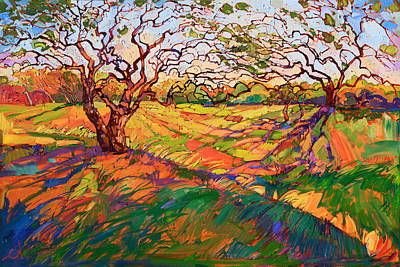 Texas Hill Country Painting - Entwined by Erin Hanson