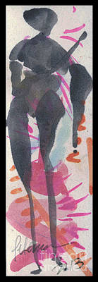 Entwined Figure Series No. 6  Your Back To The Drama Print by Cathy Peterson