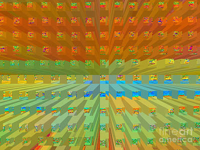 Vibrating Digital Art - Envision by Ann Johndro-Collins