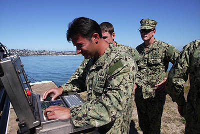 Eod Members Operate A Remote Controlled Print by Stocktrek Images