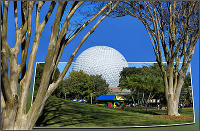 Epcot Globe 02 Print by Thomas Woolworth