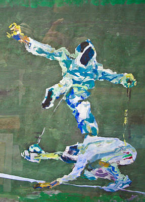 Epee Fencing Match Original by Godfrey McDonnell