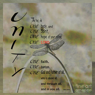 Metal Dragonfly Photograph - Ephesians 4 by Beverly Guilliams