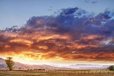 Epic Photograph - Epic Colorado Country Sunset Landscape by James BO  Insogna