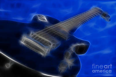 Epiphone Special 2 Les Paul-9721-fractal Print by Gary Gingrich Galleries
