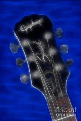 Epiphone Special II Les Paul-9674 Fractal Print by Gary Gingrich Galleries