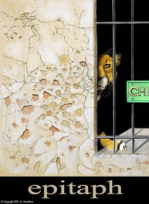 Cheetah Mixed Media - Epitaph by J L Meadows