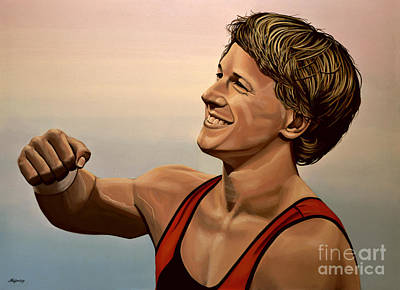 2012 Painting - Epke Zonderland The Flying Dutchman by Paul Meijering
