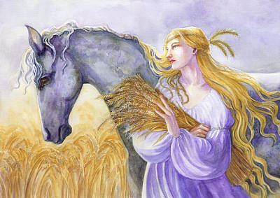 Fertility Painting - Epona by Janet Chui