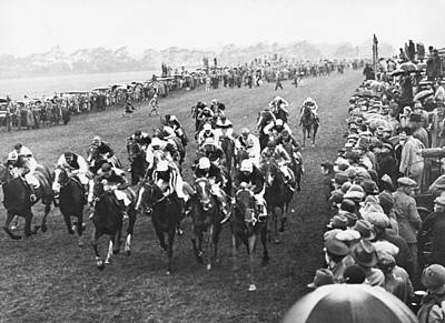 Epsom Derby Race Print by Underwood Archives