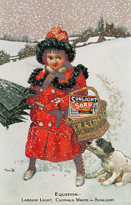 Snow Storm Drawing - Vintage Advertisement For Soap by English School