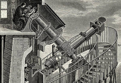 Aperture Photograph - Equatorial Coude' Refracting Telescope by Universal History Archive/uig