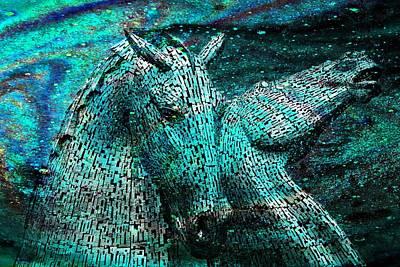 Kelpie Digital Art - Equine Cosmos by Mike Marsden