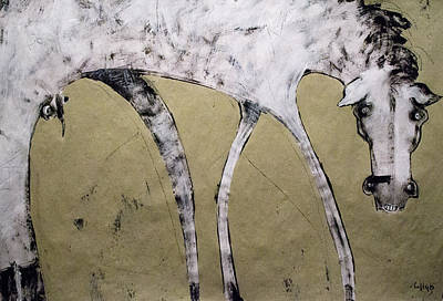 On Paper Mixed Media - Equos by Mark M  Mellon