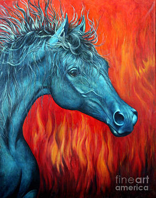 She-devil Painting - Equus Diabolus Diablo by Joey Nash