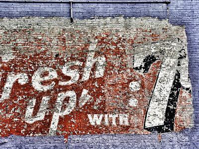 7up Sign Photograph - Erasing History by Brandon Addis
