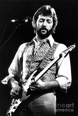 Clapton Photograph - Eric Clapton 1977 by Chris Walter