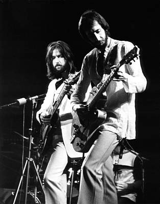Clapton Photograph - Eric Clapton And Pete Townshend  by Chris Walter